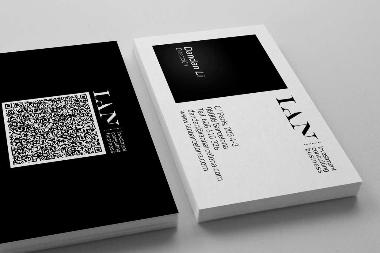Diseño de tarjetas visita en Barcelona