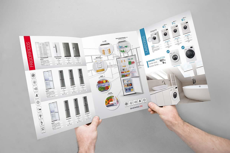 Diseño folleto electrodomésticos Barcelona